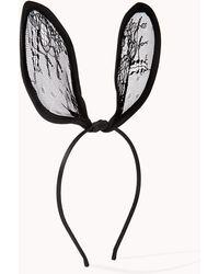 Forever 21 - Lace Rabbit Ear Headband - Lyst