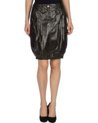 John Richmond Leather Skirt - Lyst