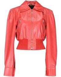 John Richmond Leather Outerwear - Lyst
