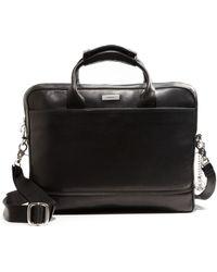 John Varvatos - Leather Briefcase - Lyst