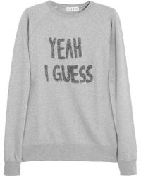 Lulu & Co Yeah I Guess Appliquéd Cottonjersey Sweatshirt - Lyst