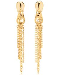Marc By Marc Jacobs - Zip Pull Draped Goldtoned Earrings - Lyst