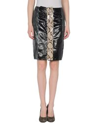 Prada Leather Skirt - Lyst