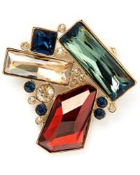 St. John - Faceted Swarovski Brooch - Lyst