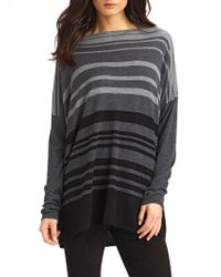 Vince Striped Woolrich Boatneck Sweater - Lyst