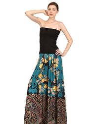 Antonio Marras Cotton Jersey and Silk Twill Long Dress - Lyst