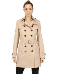 Burberry Brit Cotton Gabardine Trench Coat - Lyst