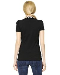 Burberry Brit - Cotton Jersey Polo Shirt - Lyst