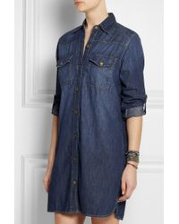 Current/Elliott Cottonchambray Shirt Dress - Lyst