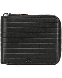 Dior Homme Soft Leather Zip Around Coin Wallet black - Lyst
