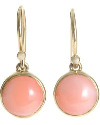 Finn Coral Gold Drop Earrings - Lyst