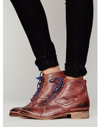 Free People Skyfall Lace Up Boot - Lyst