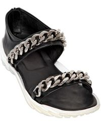 Givenchy Metal Chain Leather Sandals - Lyst