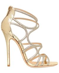 Jimmy Choo 120mm Sling Glitter Ayers Cage Sandals - Lyst