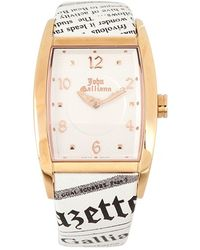 John Galliano - Ronda Quartz Rose Gold Watch - Lyst