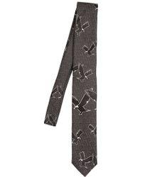 Kris Van Assche | 6cm Birds Silk Jacquard Tie | Lyst