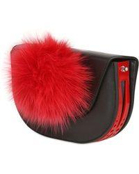 Kzeniya - Ball Clutch with Fur Pompom - Lyst