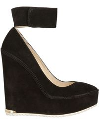 Paloma Barceló 140mm Suede Wedges - Lyst