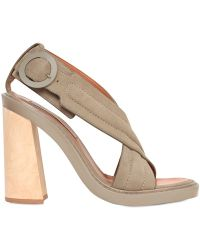 Stella McCartney 125Mm Crossed Faux Leather Sandals - Lyst