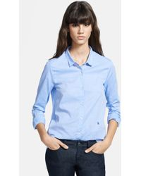 The Kooples Button Front Chambray Shirt - Lyst