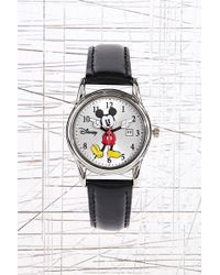 Urban Outfitters - Disney Mickey Mouse Watch in Black - Lyst