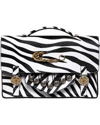 Versus  Large Zebra Printed Saffiano School Bag - Lyst