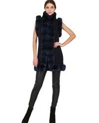 Vicedomini - Rex Rabbit Fur Cashmere Long Vest - Lyst