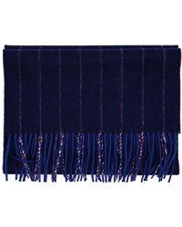 Browns Striped Wool-Angora Scarf - Lyst