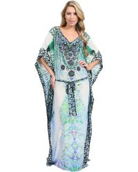 Camilla V Neck Kaftan Dress - Lyst