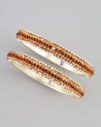 Chamak by Priya Kakkar - Twopiece Crystal Bangles Amber - Lyst
