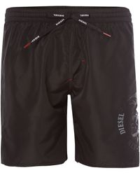 Diesel Mohican Long Graphic Swim Short - Lyst
