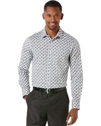 Perry Ellis Long Sleeve Print Shirt - Lyst