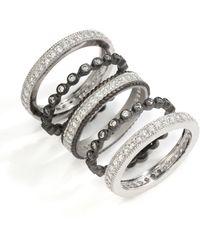 Belargo - Twotone Round Bezel Ring Set - Lyst