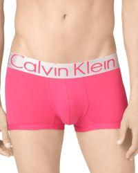 Calvin Klein Steel Micro Low Rise Trunks - Lyst