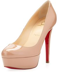 Christian Louboutin Bianca Patent Leather Platform Pump - Lyst