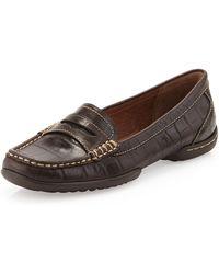 Donald J Pliner Vegga Croc Embossed Loafer  - Lyst