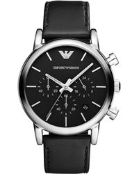 Emporio Armani - Ar1733 Men's Leather Strap Watch - Lyst