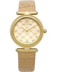 ESCADA Women'S Swiss Vanessa Diamond Accent Beige Leather Strap Watch 34Mm Iww-E3230022 - Lyst