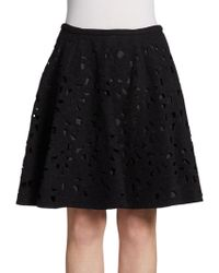 Jill Stuart Cutout Lace Skirt - Lyst