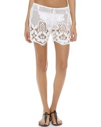 Miguelina - Minnie Lace Shorts - Lyst