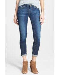 AG Adriano Goldschmied The Stilt Roll Cuff Skinny Jeans - Lyst