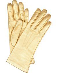 Causse Gantier - Jackie Metallic Leather Gloves - Lyst