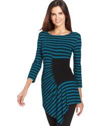 Eci - Asymmetrical Striped Tunic Top - Lyst