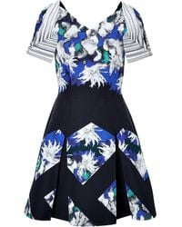 Peter Pilotto Cutout Shoulder Flared Tallulah Dress - Lyst