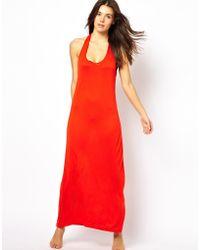 Asos Keyhole Back Maxi Beach Dress - Lyst
