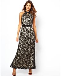 Little Mistress  Lace Layered Maxi Dress - Lyst