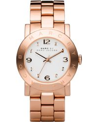 Marc By Marc Jacobs Amy Crystal Analog Watch with Bracelet Rose Golden - Lyst