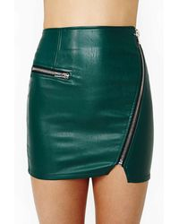 Nasty Gal Motorcyle Drive Faux Leather Skirt - Lyst