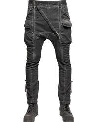 Alexandre Plokhov - Stretch Cotton Twill Cargo Trousers - Lyst