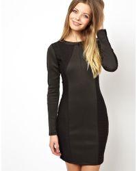 Asos Textured Zip Mini Dress - Lyst